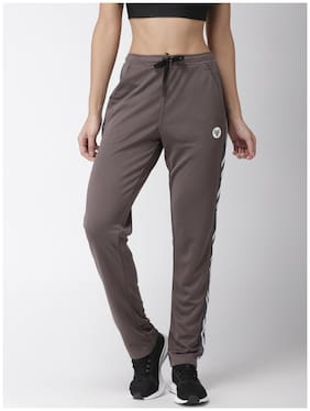 2Go Women Regular Fit Polyester Printed Track Pants - Grey
