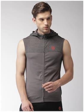 Men Cotton Blend Sleeveless Jacket