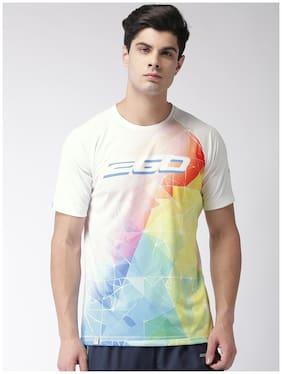 2Go Men Round Neck Sports T-Shirt - White