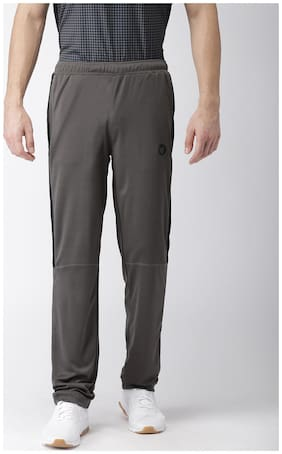 2GO Men Polyester Track Pants - Grey