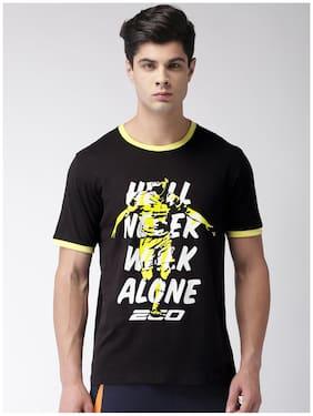 2Go Men Round Neck Sports T-Shirt - Black