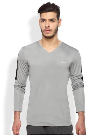 2Go Men V Neck Sports T-Shirt - Grey