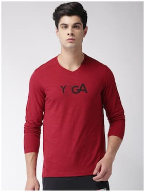 2Go Men Round Neck Sports T-Shirt - Red