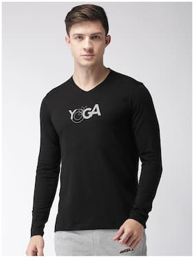 2Go Men V Neck Sports T-Shirt - Black