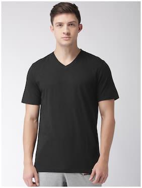 2Go Men V Neck Sports T-Shirt - Black