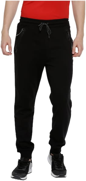 4F Poly Cotton Lightweight Men Joggers - Black