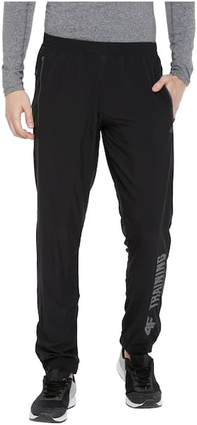 4F Polyester Joggers For Men (Black)