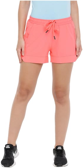 4F Women Solid Regular shorts - Pink