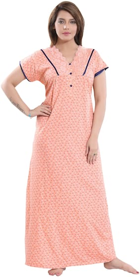 9shines Label Orange Night Gown