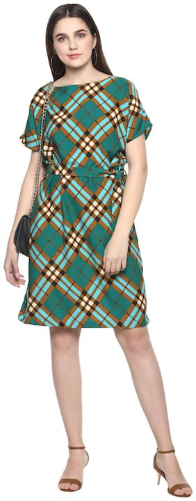 Women Checked Dress