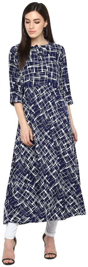 Women Printed Layered Kurti Dress