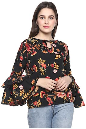 Women Floral Tie up Top