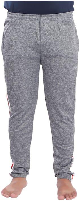 A4S Men Grey Solid Regular fit Track pants