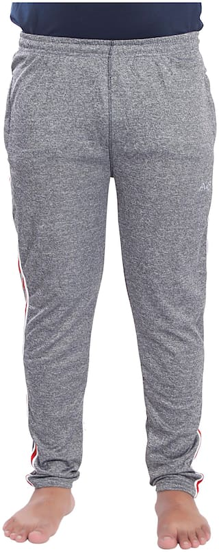 A4S Men Grey Solid Regular fit Track pants