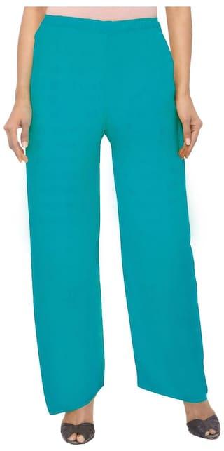 Aagaman Fashion SkyBlue Colored Rayon Casual Wear Plazzo
