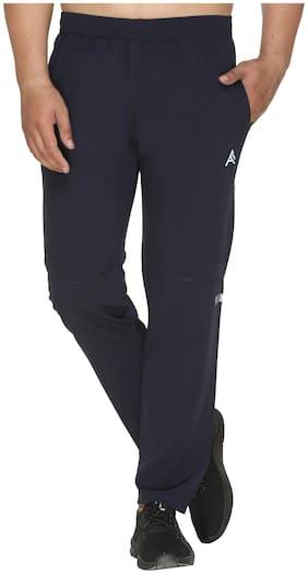 Aarees Men Navy blue Solid Regular fit Track pants