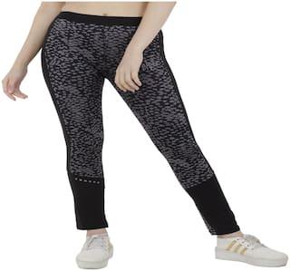 AARMY FIT Women Slim fit Blended Printed Track pants - Grey