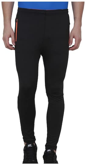 AARMY FIT Men Polyester blend Track Pants - Black