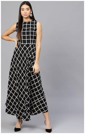 Women Abstract A Line Kurti Dress