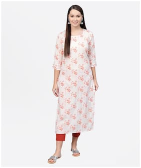 Women Floral Straight Kurta ,Pack Of Pack Of 1