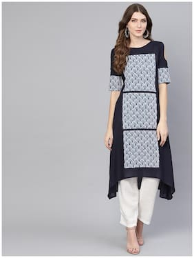 Women Printed Assymetrical Kurta