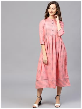 Women Printed Anarkali Kurti Dress