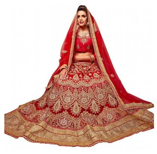 61d66d605f0 Buy Aasvaa Net Printed Flared Lehenga Choli - Multi Online at Low ...