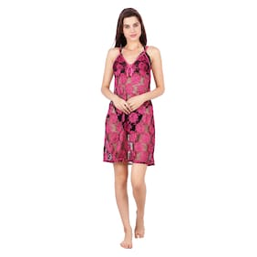 ABACADA'S GAJAB Women Nighty (Pink)