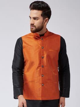 ABH LIFESTYLE Men's Silk Blend Waistcoat