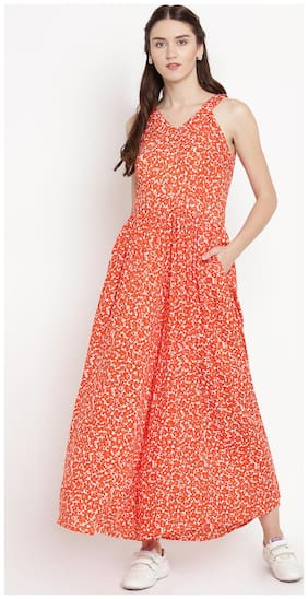 Abiti Bella Floral Jumpsuit - Orange