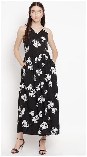 Abiti Bella Floral Jumpsuit - Black