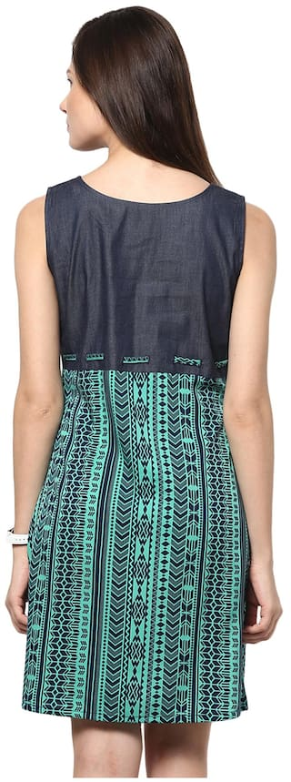 Abiti Bella Green Dress Bella Denim Dress Green Abiti Denim vaxqwdvBr