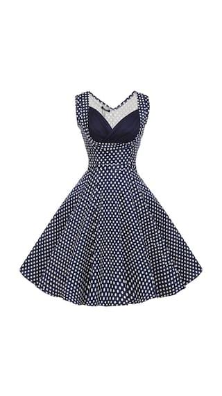 ACEVOG Sexy Lady Elegant Women V-Neck High Waist Sleeveless Casual Party Solid Midi Pleated Dress