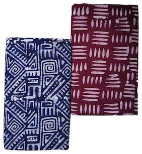 Men Cotton Printed Dhoti ,Pack Of 2