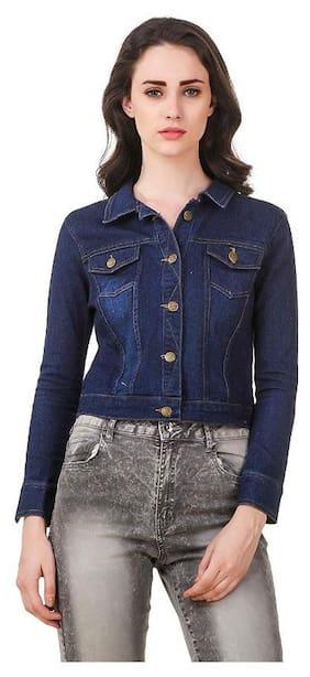 Adiba Womens Solid Denim Jacket