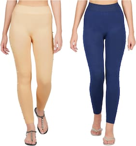 Adicap Women Ankle Length Solid Leggings