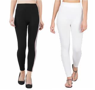 Adicap Women Ankle Length Solid Leggings