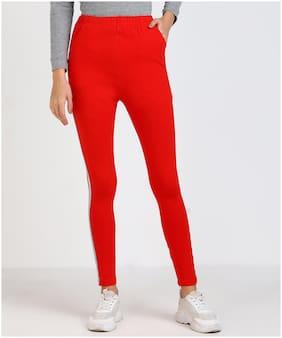 Adicap Women Red Slim fit Jegging
