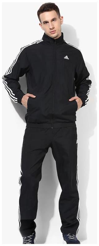 cf9b2595d2 Buy Adidas Men Polyester blend Track Suit - Black Online at Low ...
