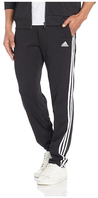 86d3c59de Buy Adidas Men Polyester Track Pants - Black Online at Low Prices in ...