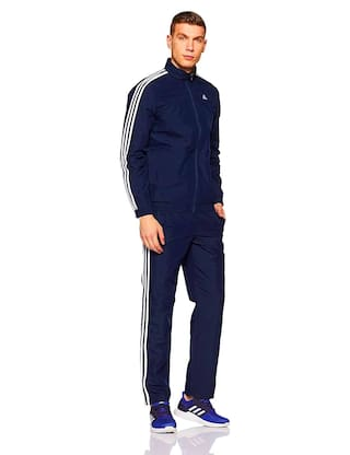 773a753469b Buy Adidas Men Polyester Track Suit - Navy Blue Online at Low Prices ...