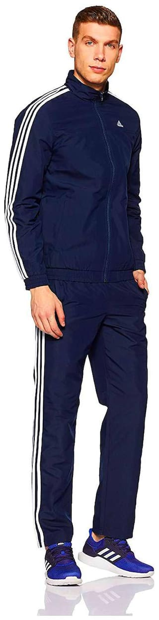 Adidas Men Polyester Track Suit - Navy blue