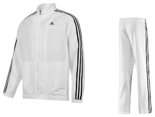 72cd16ae076 Buy Adidas Men Polyester Blend Track Suit - White Online at Low ...