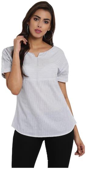 Aditi Wasan Women Striped Regular top - White