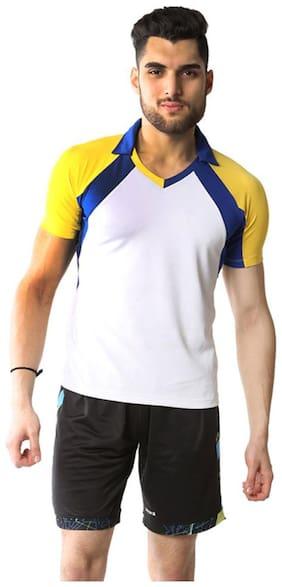Admiral Men Polo Neck Sports T-Shirt - White