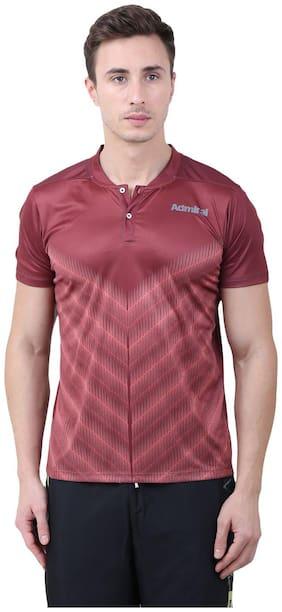 Admiral Men Henley neck Sports T-Shirt - Brown