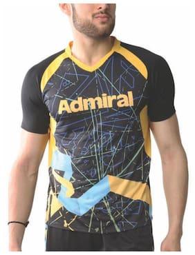 Admiral Men Round Neck Sports T-Shirt - Yellow