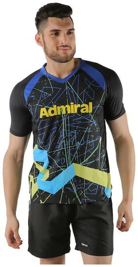 Admiral Men V Neck Sports T-Shirt - Black