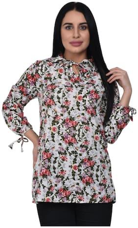 ADORSY Women Floral A-line top - Multi