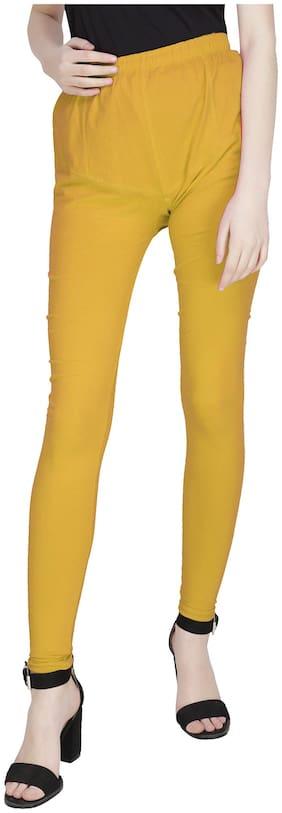 ADORSY Lycra Leggings - Yellow
